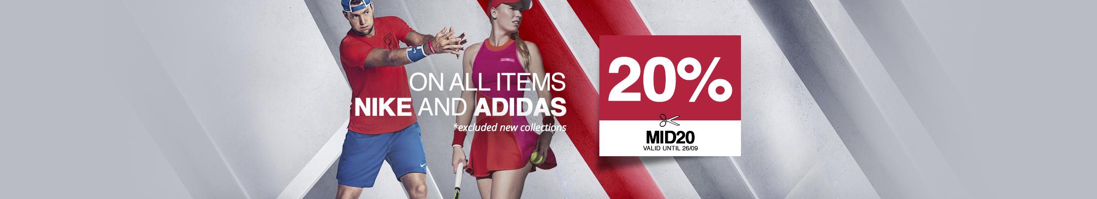 promo Nike Adidas