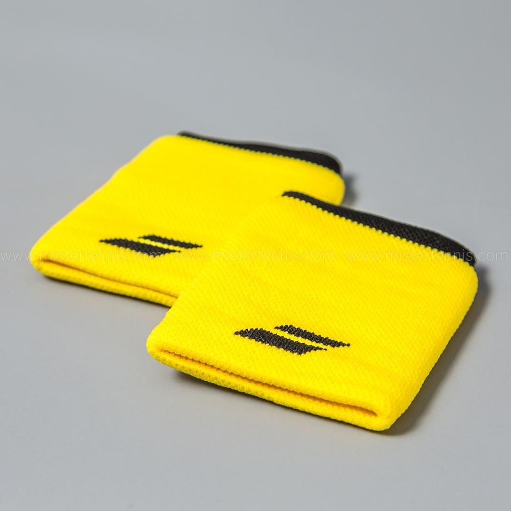 babolat logo jumbo polsini tennis yellowblack
