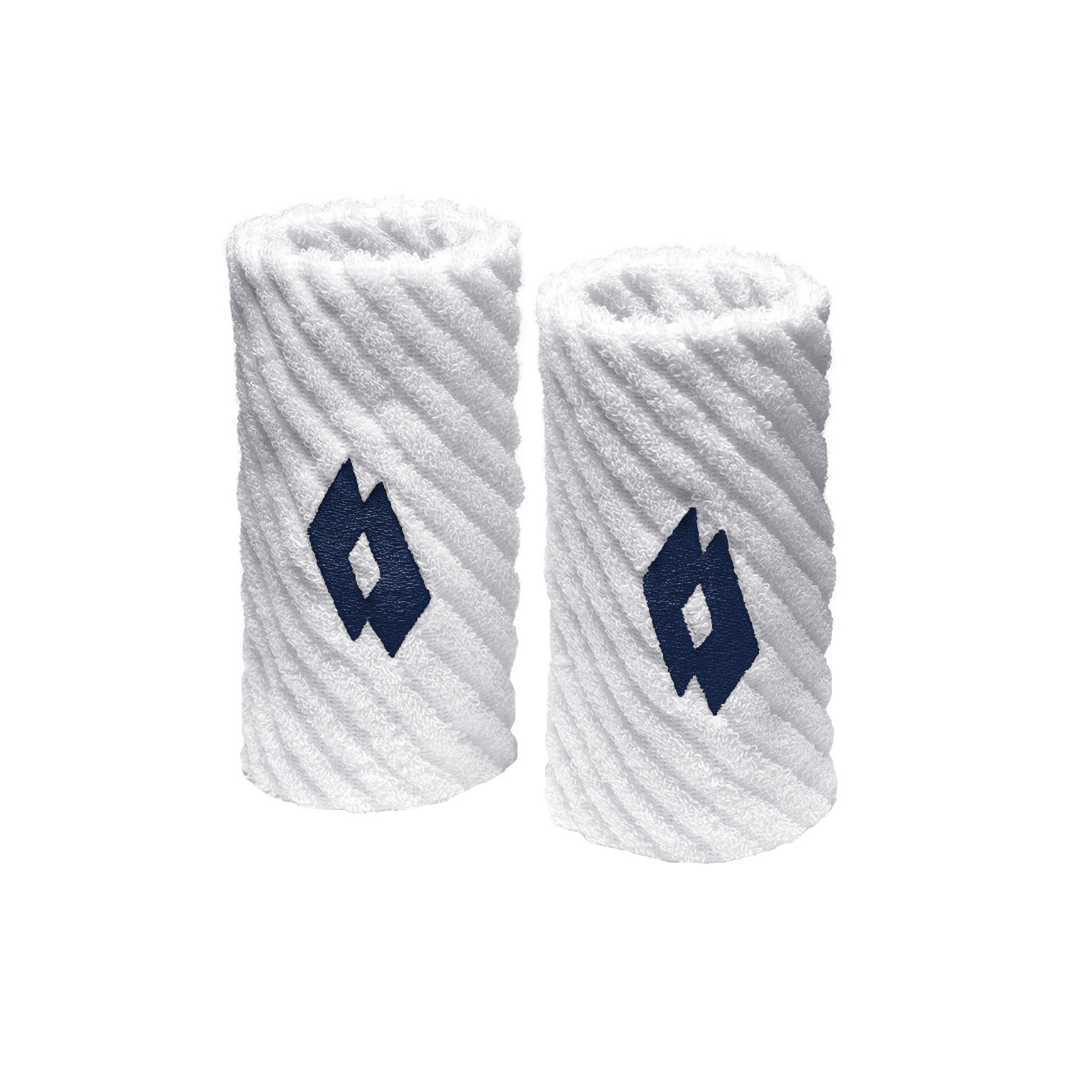 Lotto Twist Wristbands - White/Navy