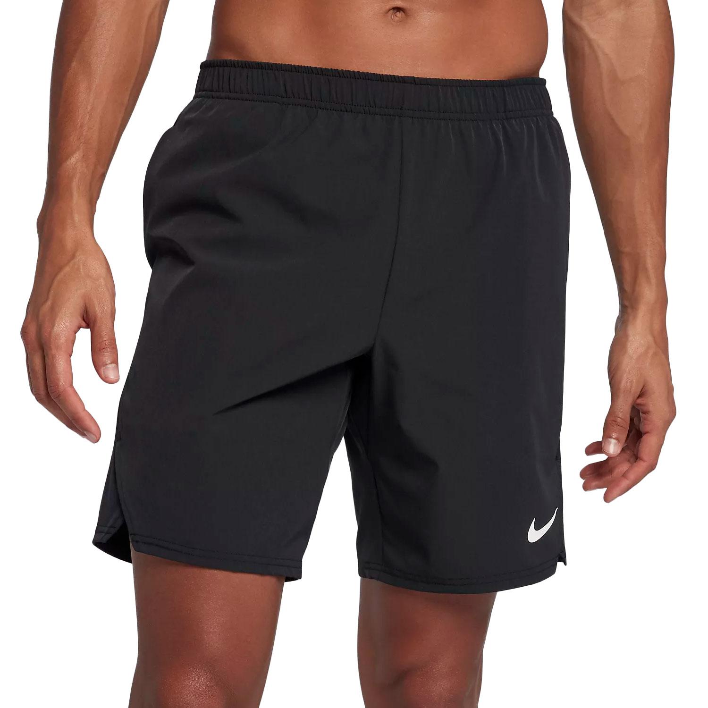 Pantaloncino Nike Tennis Uomo Nero Tecnico con Tasche Palle Tennis
