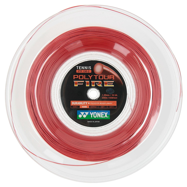 Yonex PolyTour Fire 1.30 200 m Reel - Red