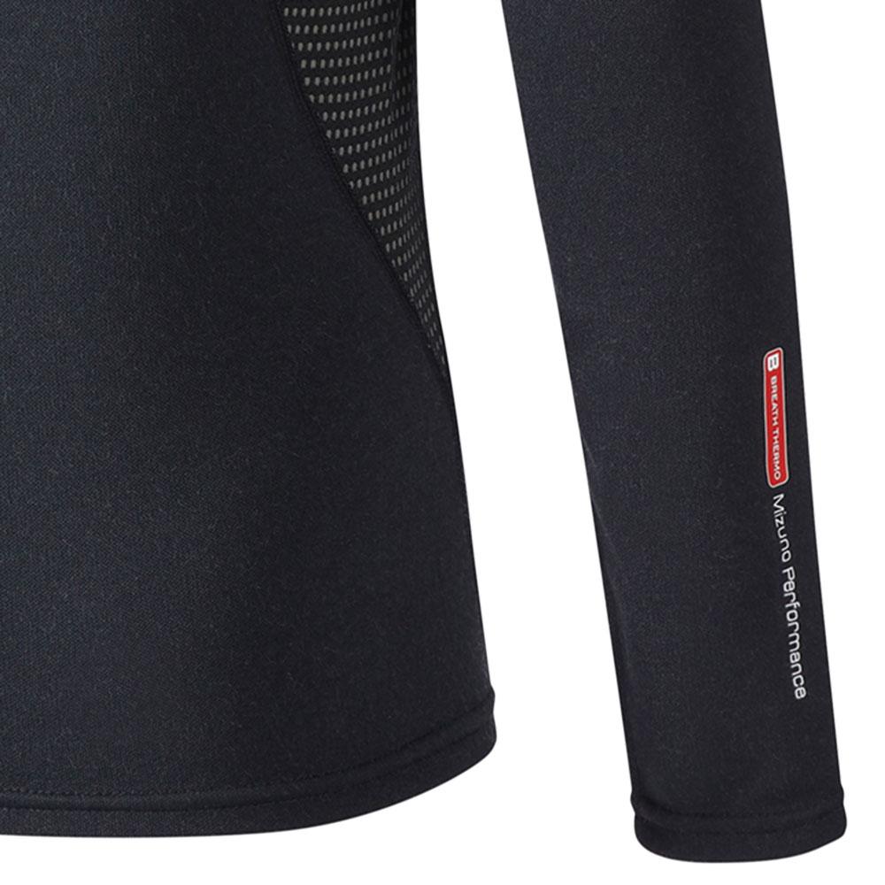 Mizuno Junior MidWeight Crew Shirt - Black