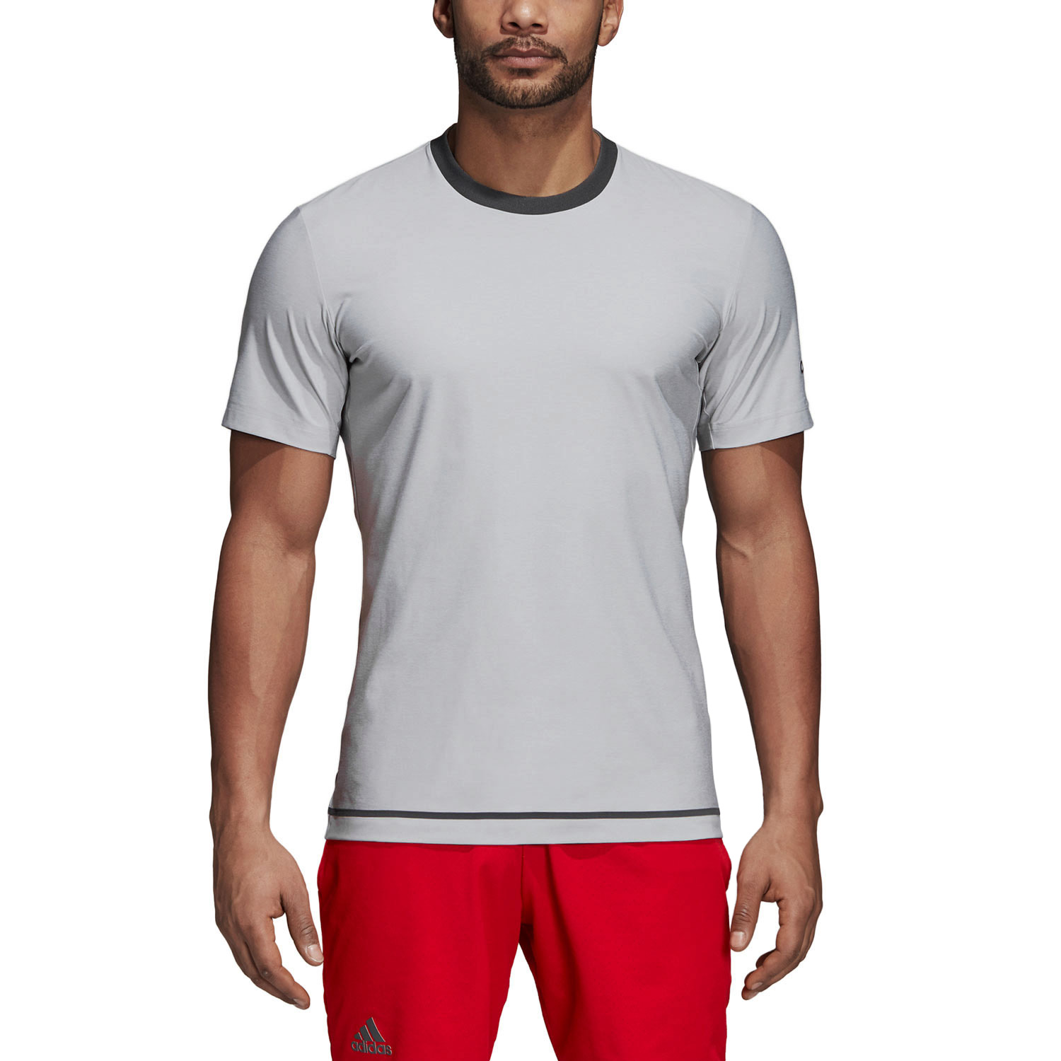 Tenis Camiseta Adidas Hombre Grey Light Barricade 4ALj5R3