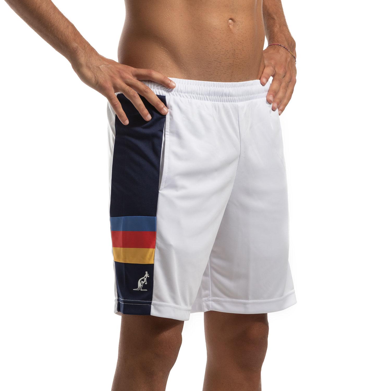Australian Ace Stripes 7in Shorts - Bianco/Blu