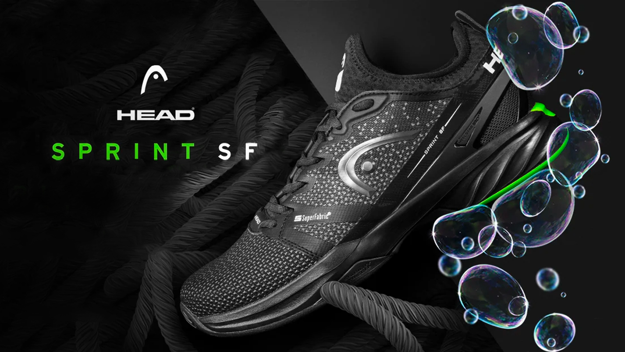 Head Sprint SF Clay - Black/Green