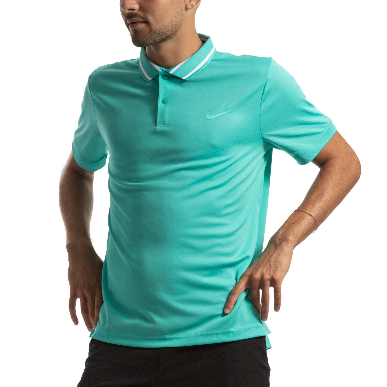 Nike Court Dri-FIT Polo - Hyper Jade/White
