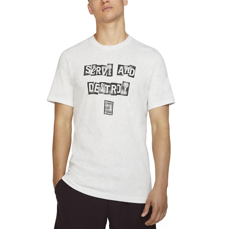 Nike Court Graphic T-Shirt - White