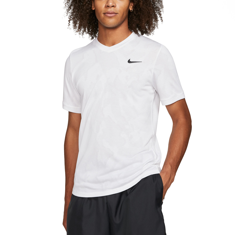 Nike Dri-FIT Challenger T-Shirt - White/Black
