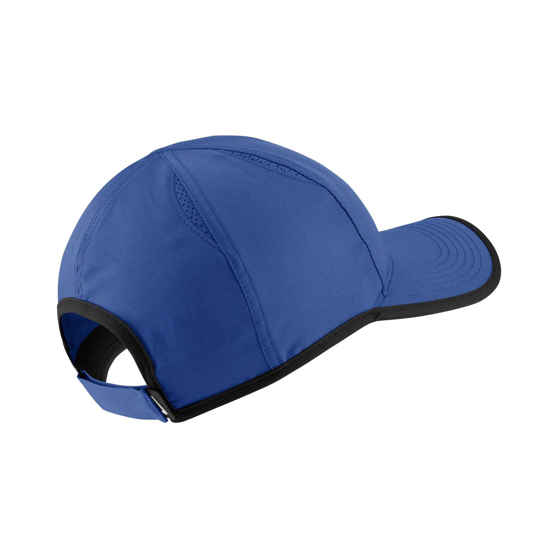 dbef2b54f05 Nike Featherlight Tennis Cap - Blue White