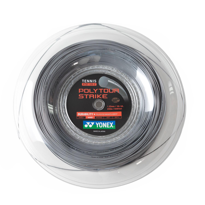 Yonex PolyTour Strike 1.25 Bobina 200 m - Grey