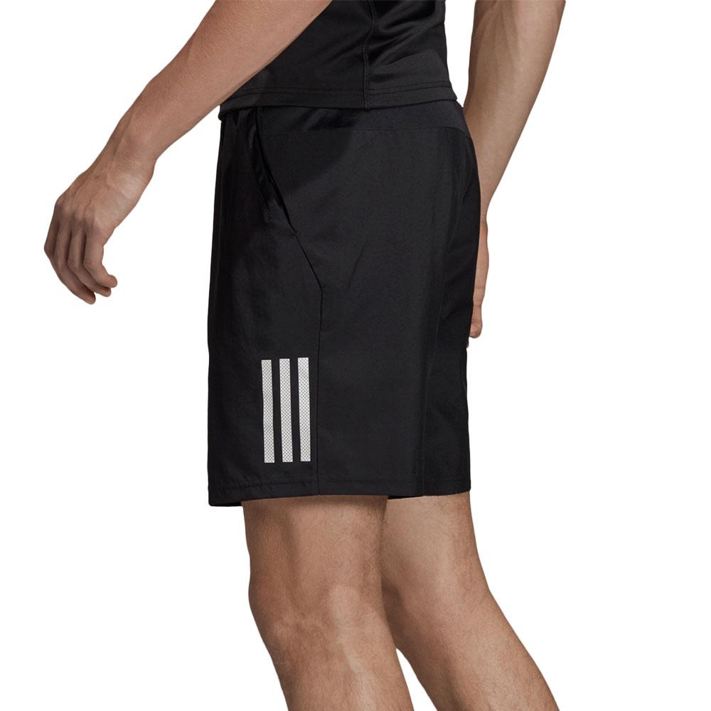 Adidas Club 3 Stripes 9in Shorts - Black/White
