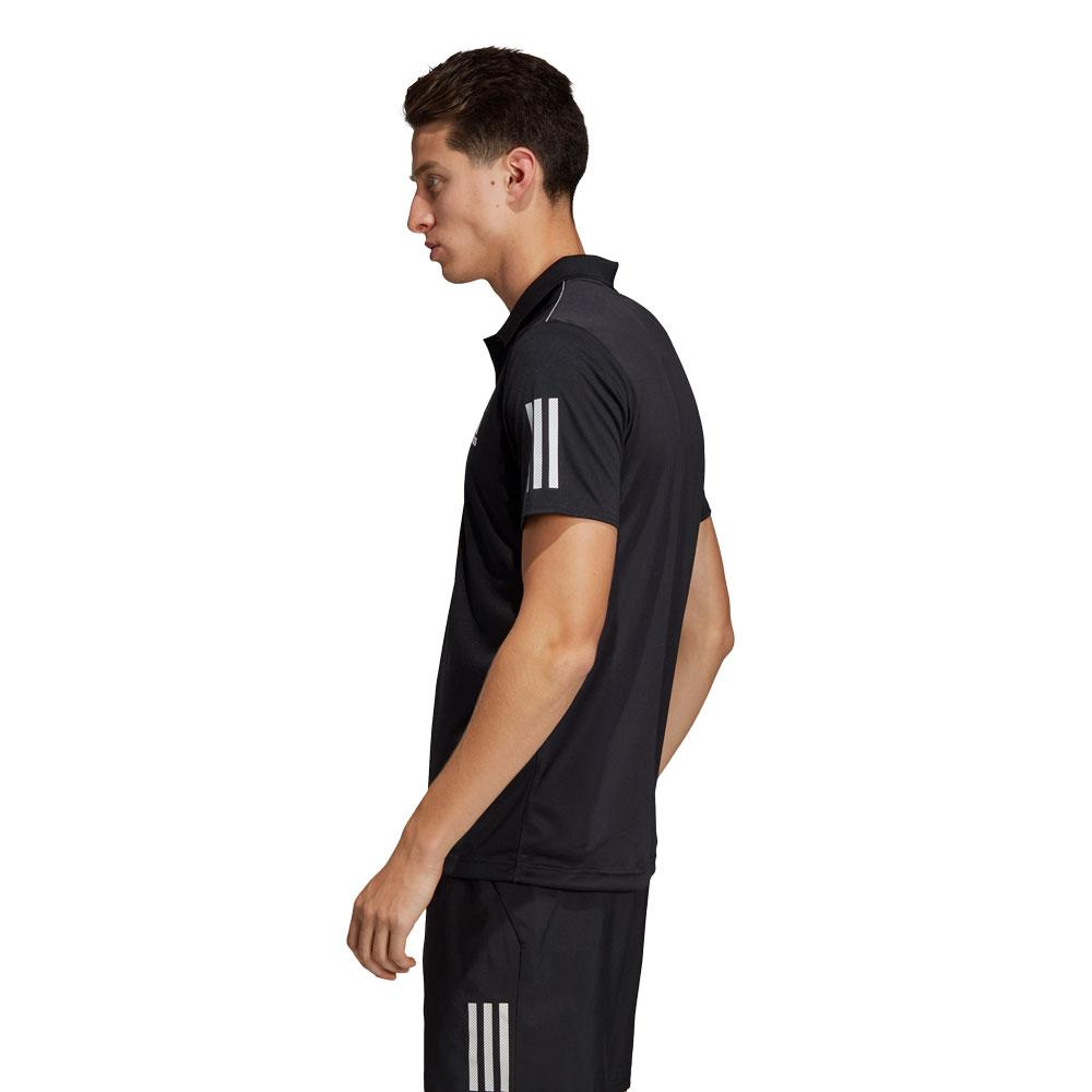 1df34fa35 Adidas Club 3 Stripes Men s Tennis Polo - Black White