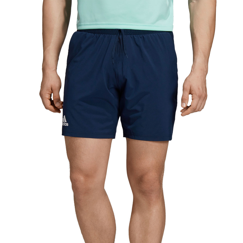 uomo navy adidas shorts