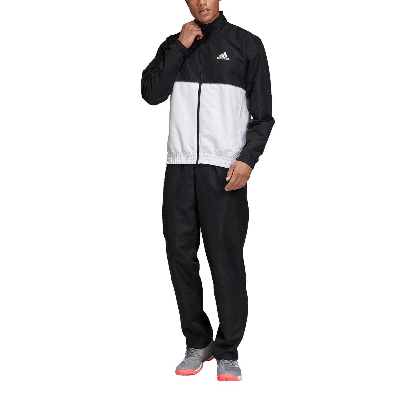 55ed6092 Adidas Club Men's Tennis TrackSuit - Black/White