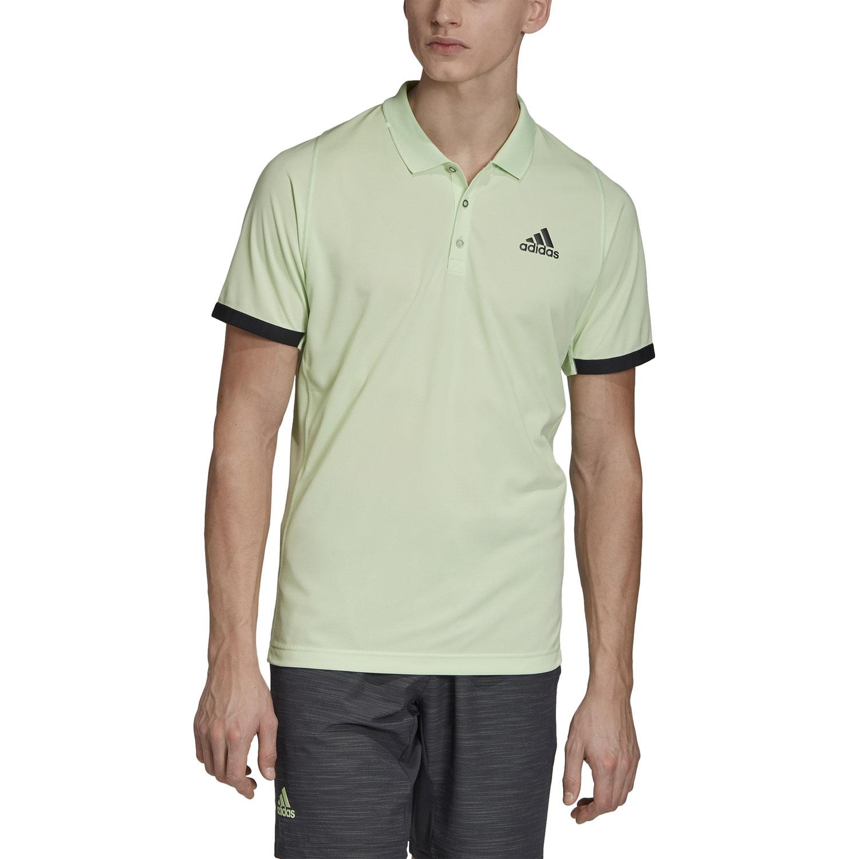 Adidas New York Men's Tennis Polo Glow GreenCarbon