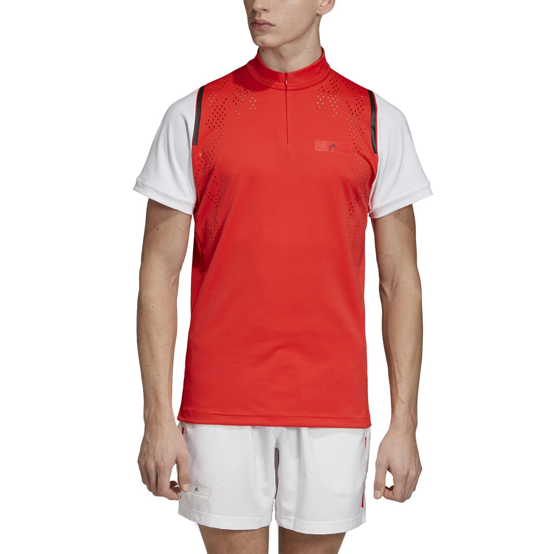 Adidas Stella McCartney Court Zipper T Shirt Active Red