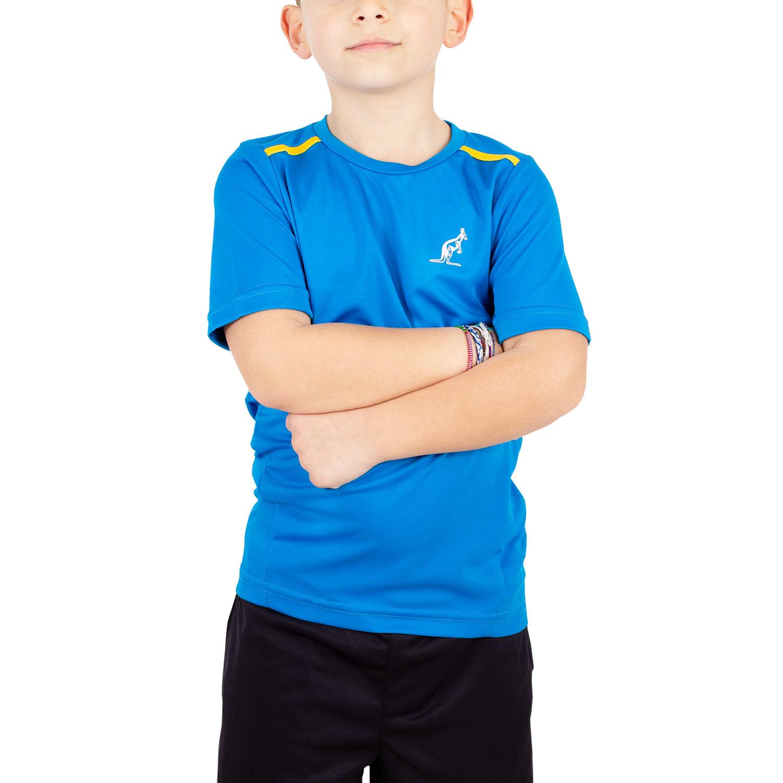 Australian Boy Ace Performance T-Shirt - Blue/Yellow