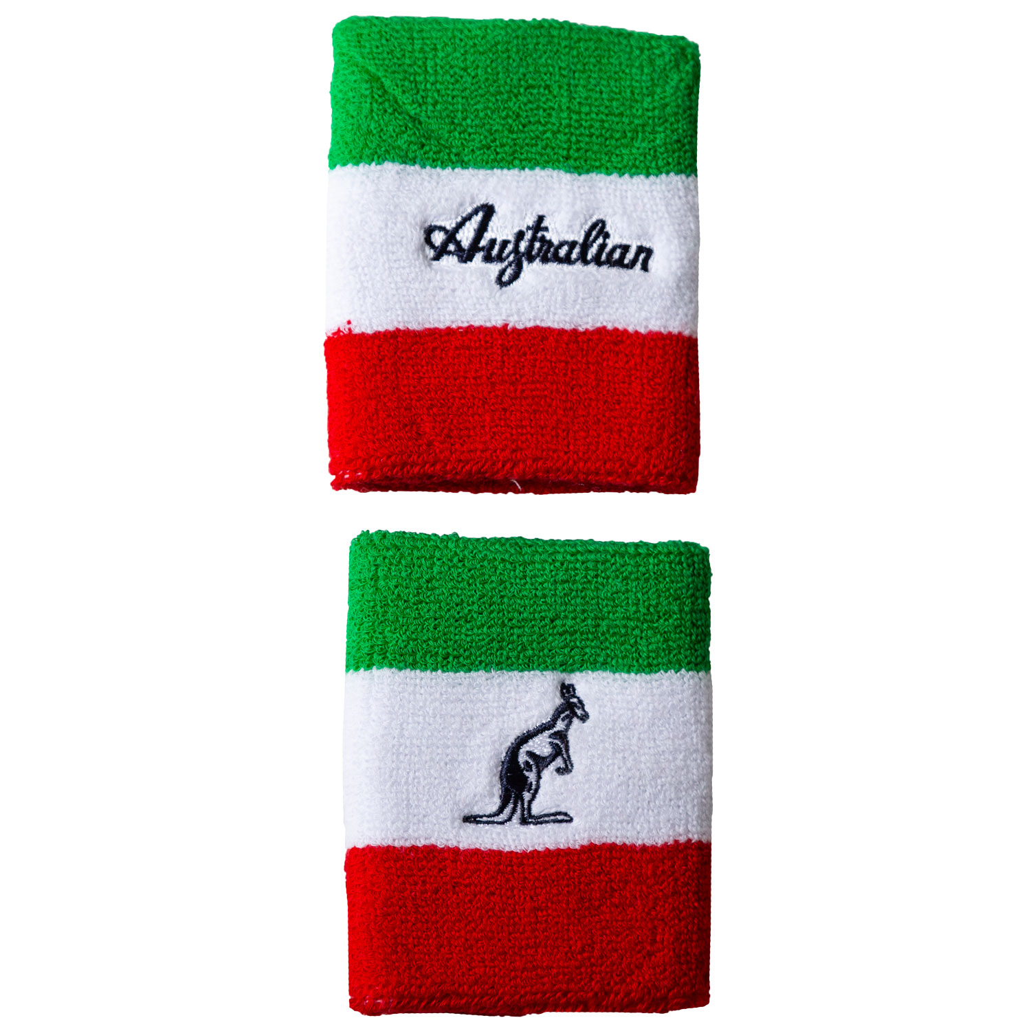 Australian Large Wristbands - Green/White/Red