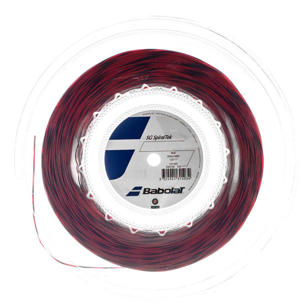 Babolat SG SpiralTek 1.25 200 m Reel - Red/Black