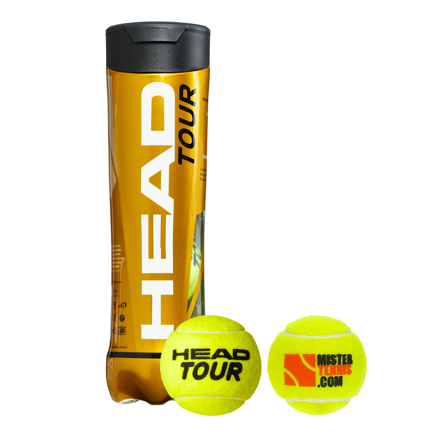 Head Tour Mister Tennis Logo - 4 Ball Can