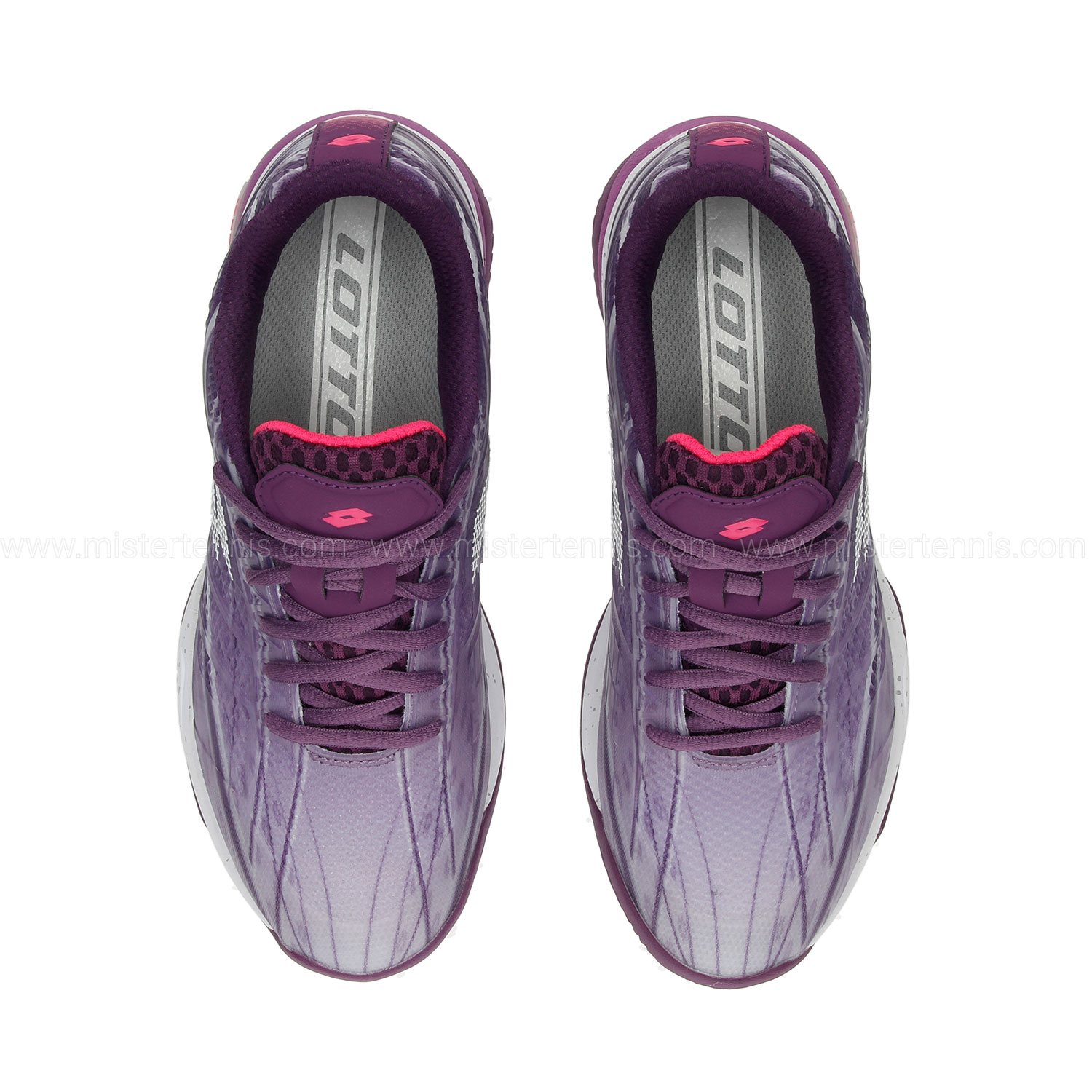 Lotto Mirage 300 Clay - Charisma Violet/All White/Funky Pink