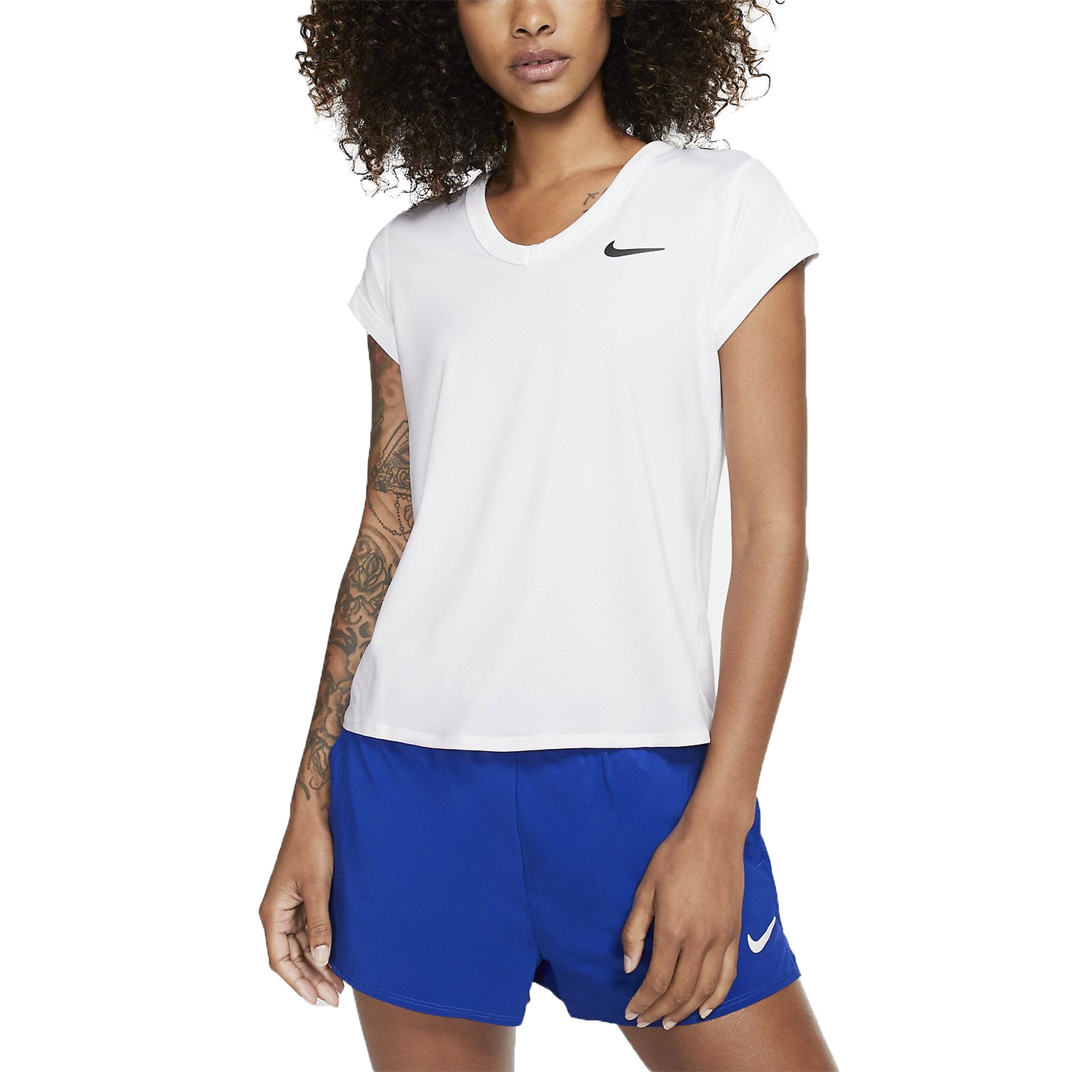 Nike Court Dri-FIT Camiseta - White/Black