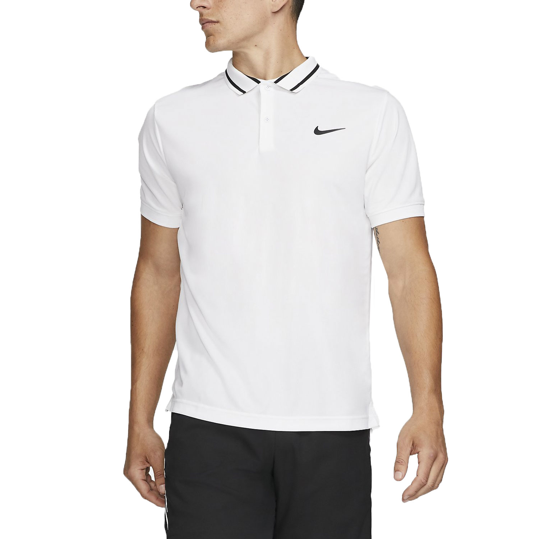 94bb55e23 Nike Court Dri-FIT Men's Tennis Polo - White/Black