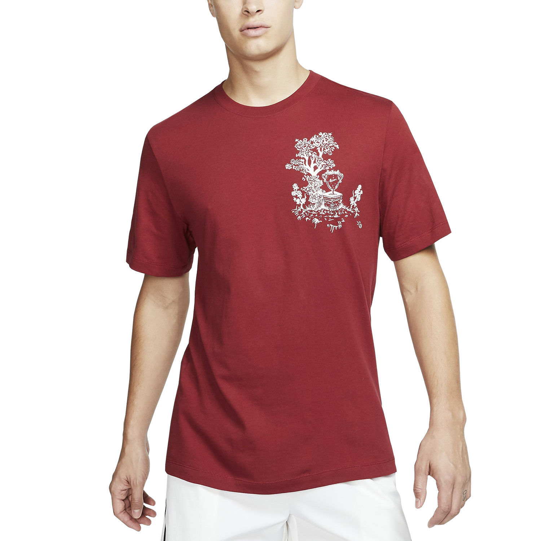 84523bc10384 Nike Court Seasonal Men's Tennis T-Shirt - Team Crimson/Sail