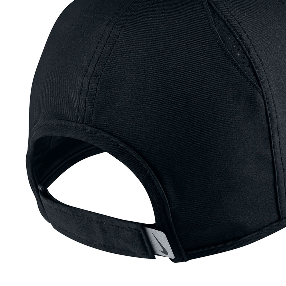 6b5abc96439cb Nike Featherlight Tennis Cap - Black White