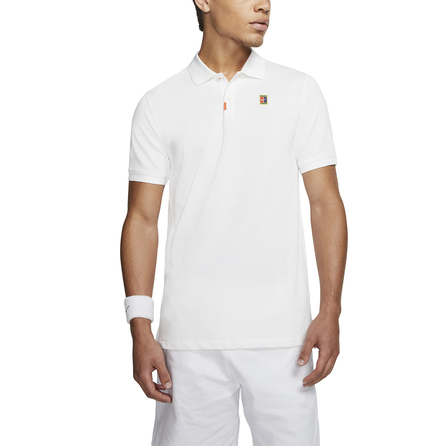 Nike Heritage Natural Polo - White