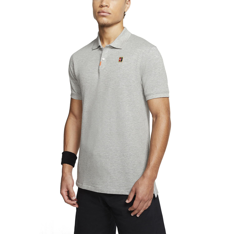 Nike Heritage Natural Polo - Dark Grey Heather/Wolf Grey