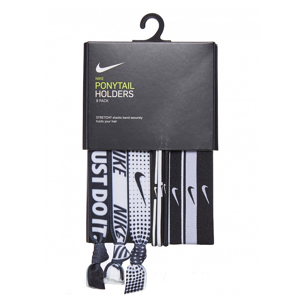 ... Nike Mixed Ponytail Holder x 9 - Black White 1cde0b950d1e