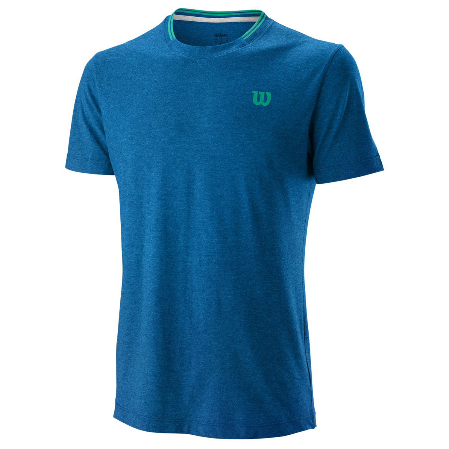 Wilson Competition Flecked Crew T-Shirt - Imperial Blue