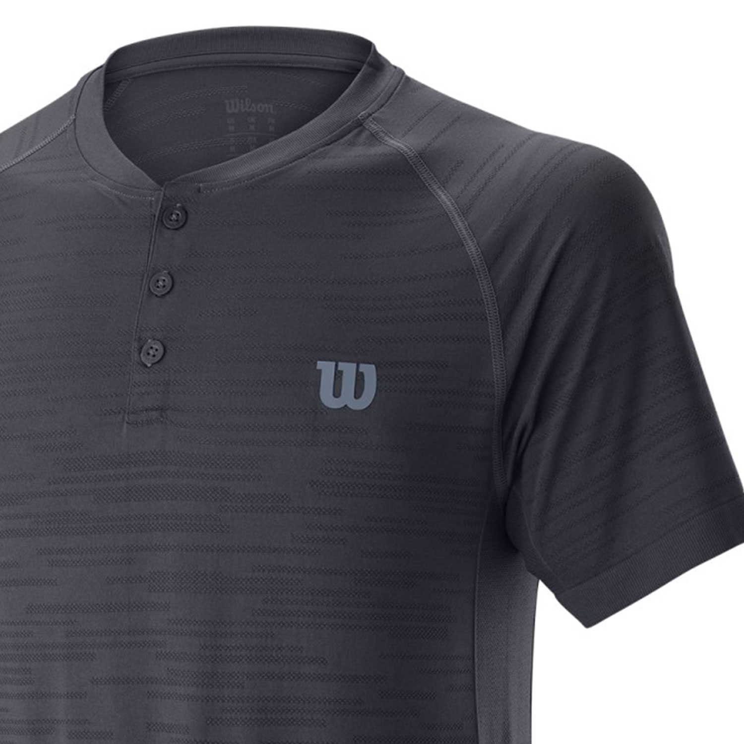 Wilson Competition Seamless Henley Polo - Ebony