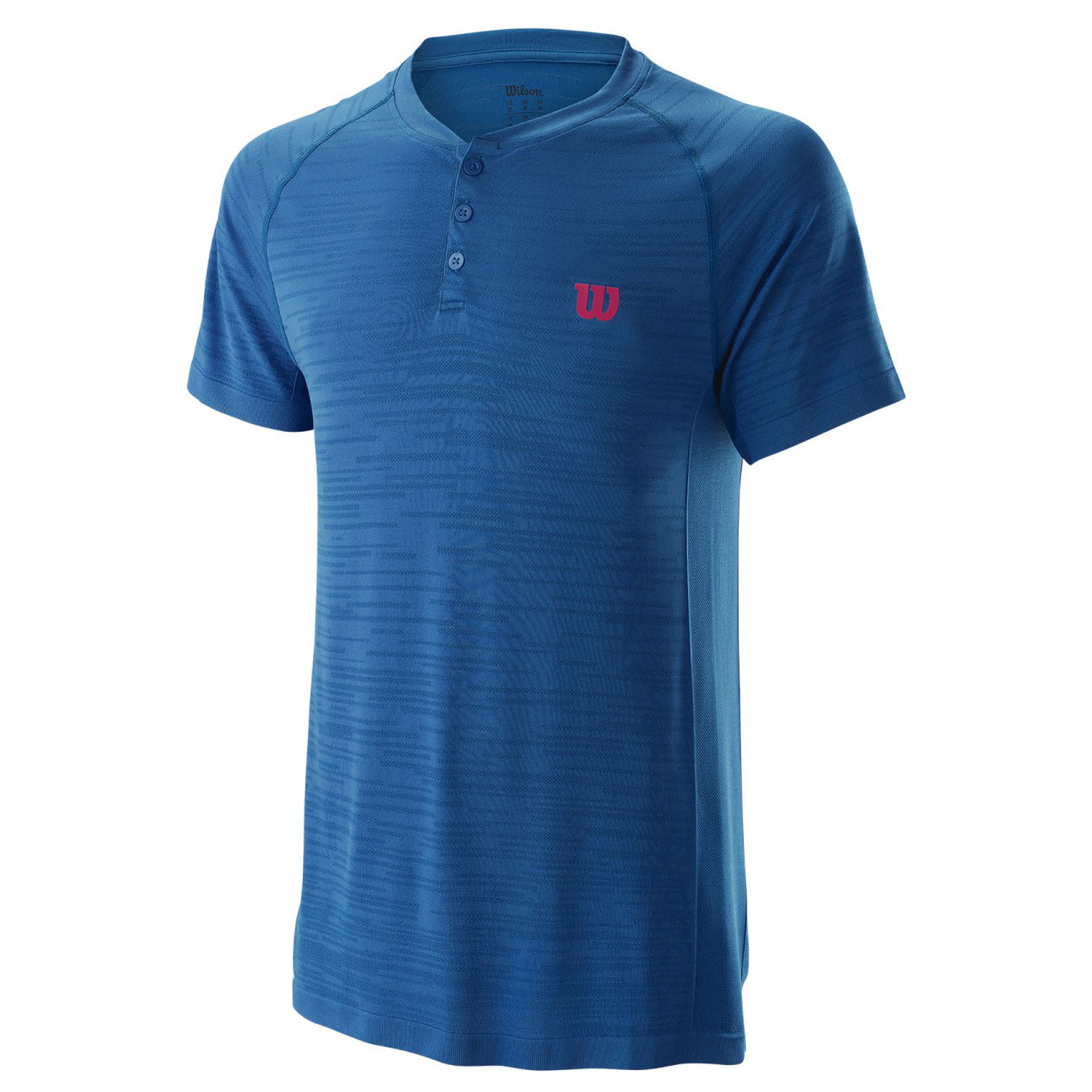 Wilson Competition Seamless Henley Polo - Imperial Blue