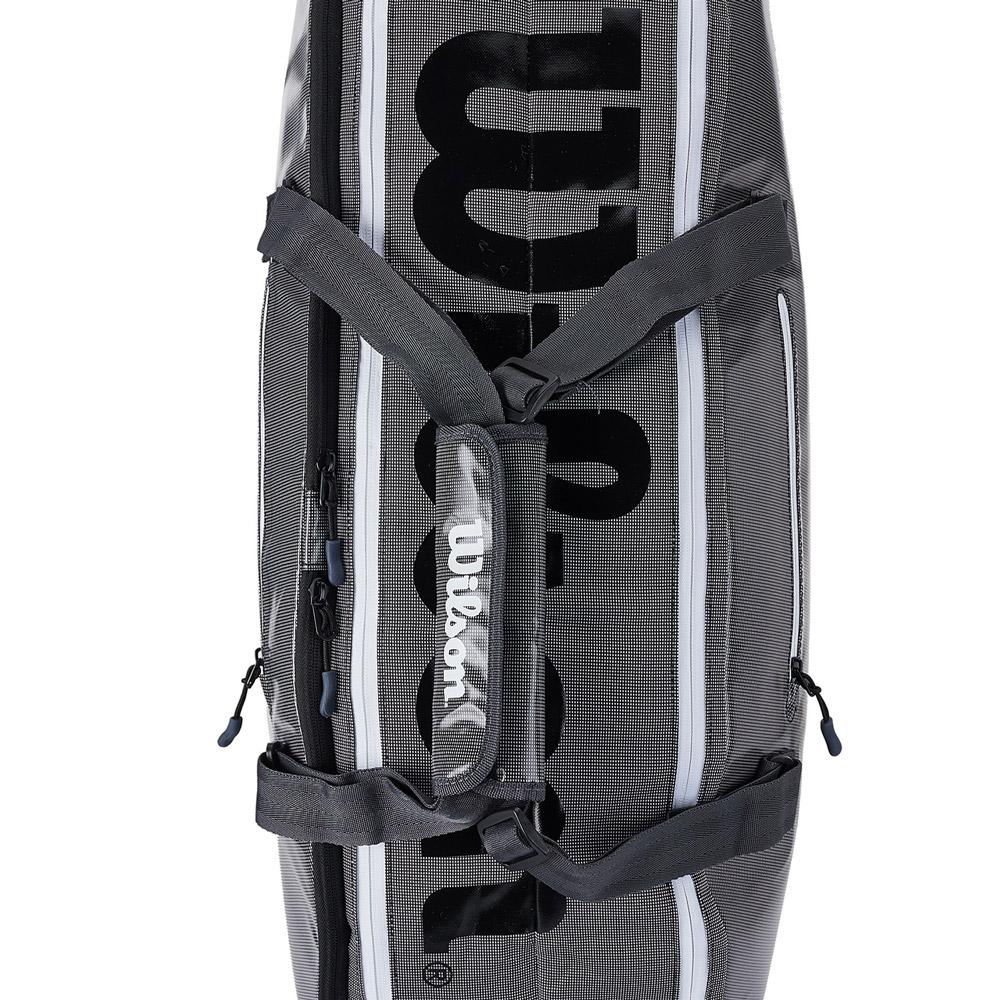 fdbf27e292 Wilson Super Tour 2 Comp Small x 6 Tennis Bag - Black Grey