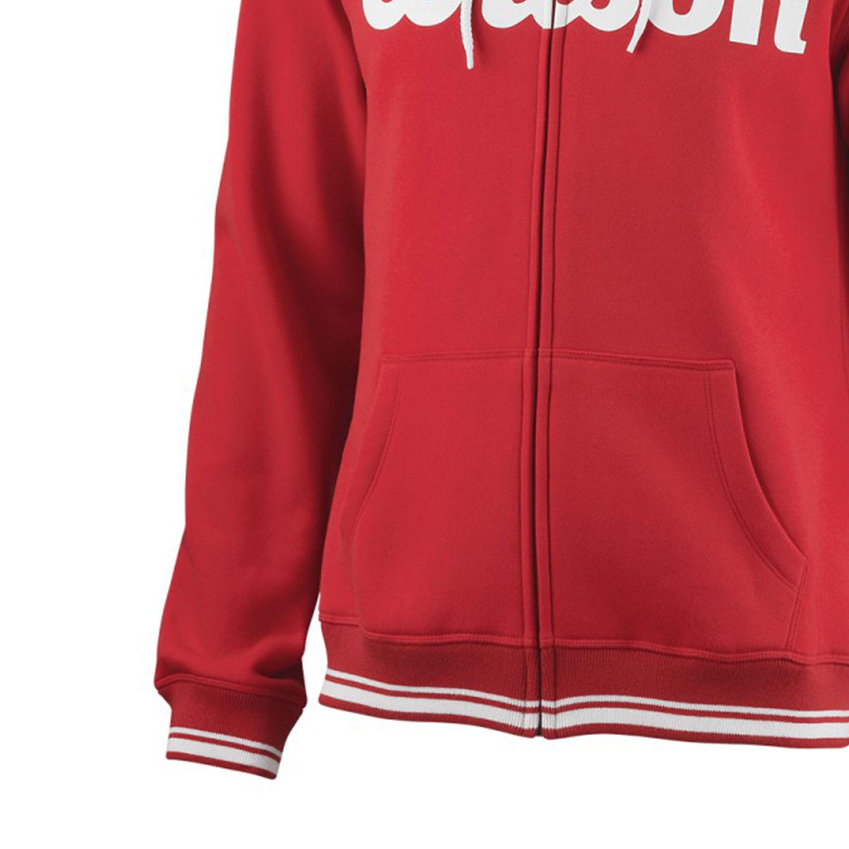 Wilson Team Script Full Zip Hoodie - Red/White