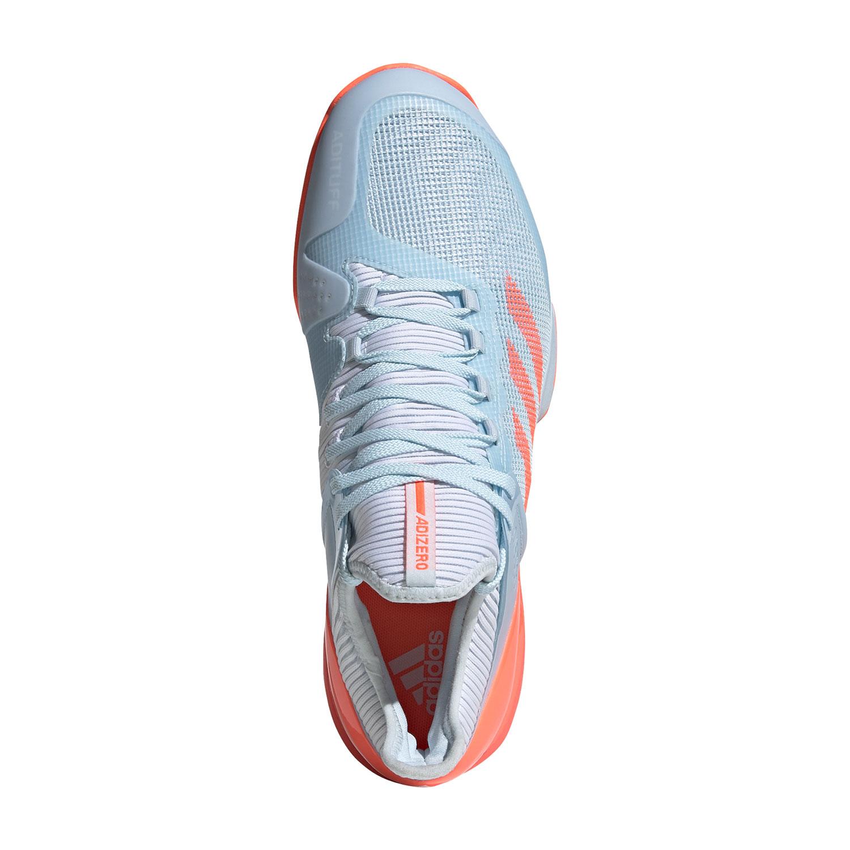 Adidas Adizero Ubersonic 2 - Sky Tint/Signal Coral/Ftwr White
