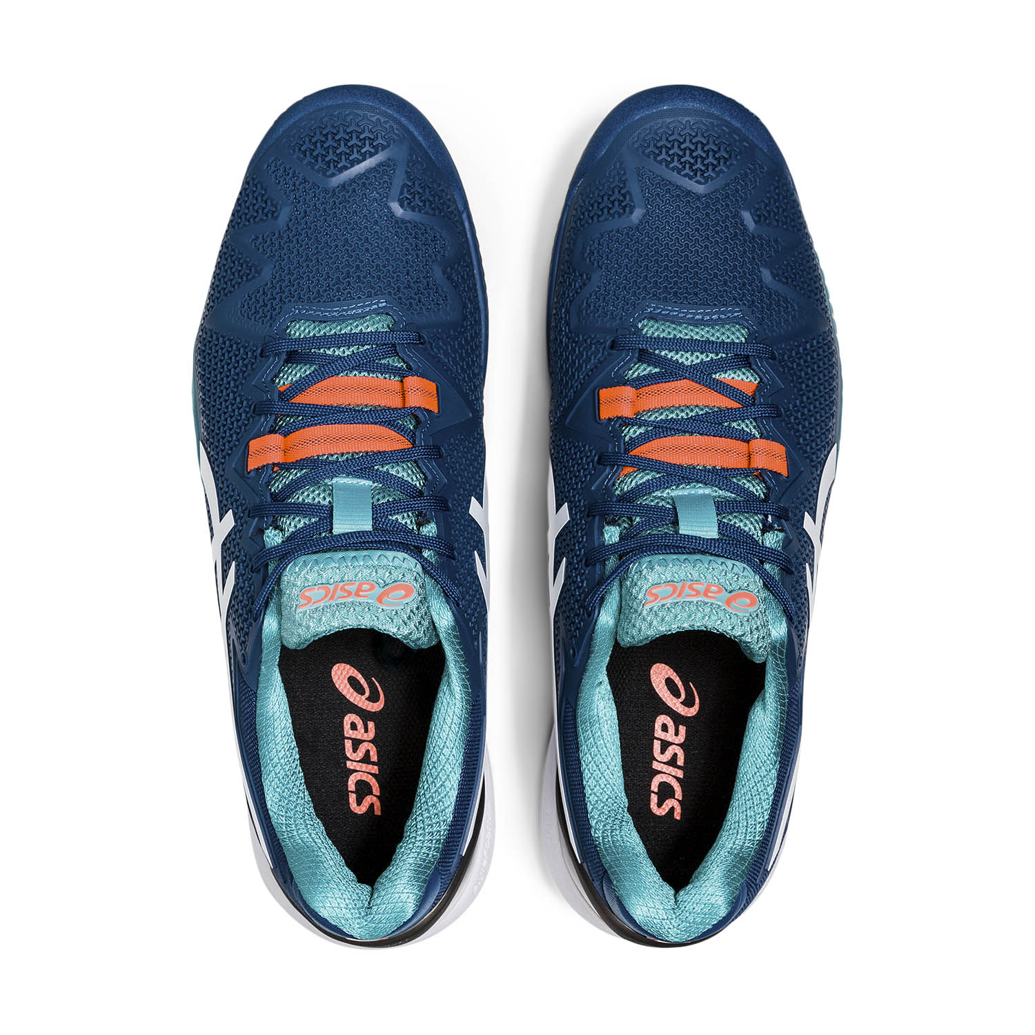 Asics Gel Resolution 8 Clay - Mako Blue/White