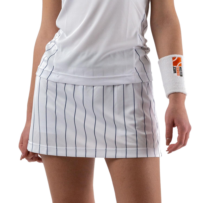 Australian Ace Pinstripes Skirt - Bianco/Blu