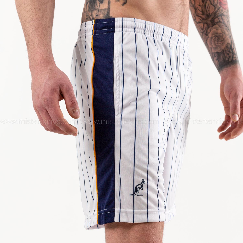 Australian Ace Pinstripes 7in Shorts - Bianco/Blu/Arancio