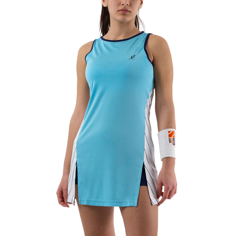 Australian Ace Pinstripes Dress - Azzurro/Bianco
