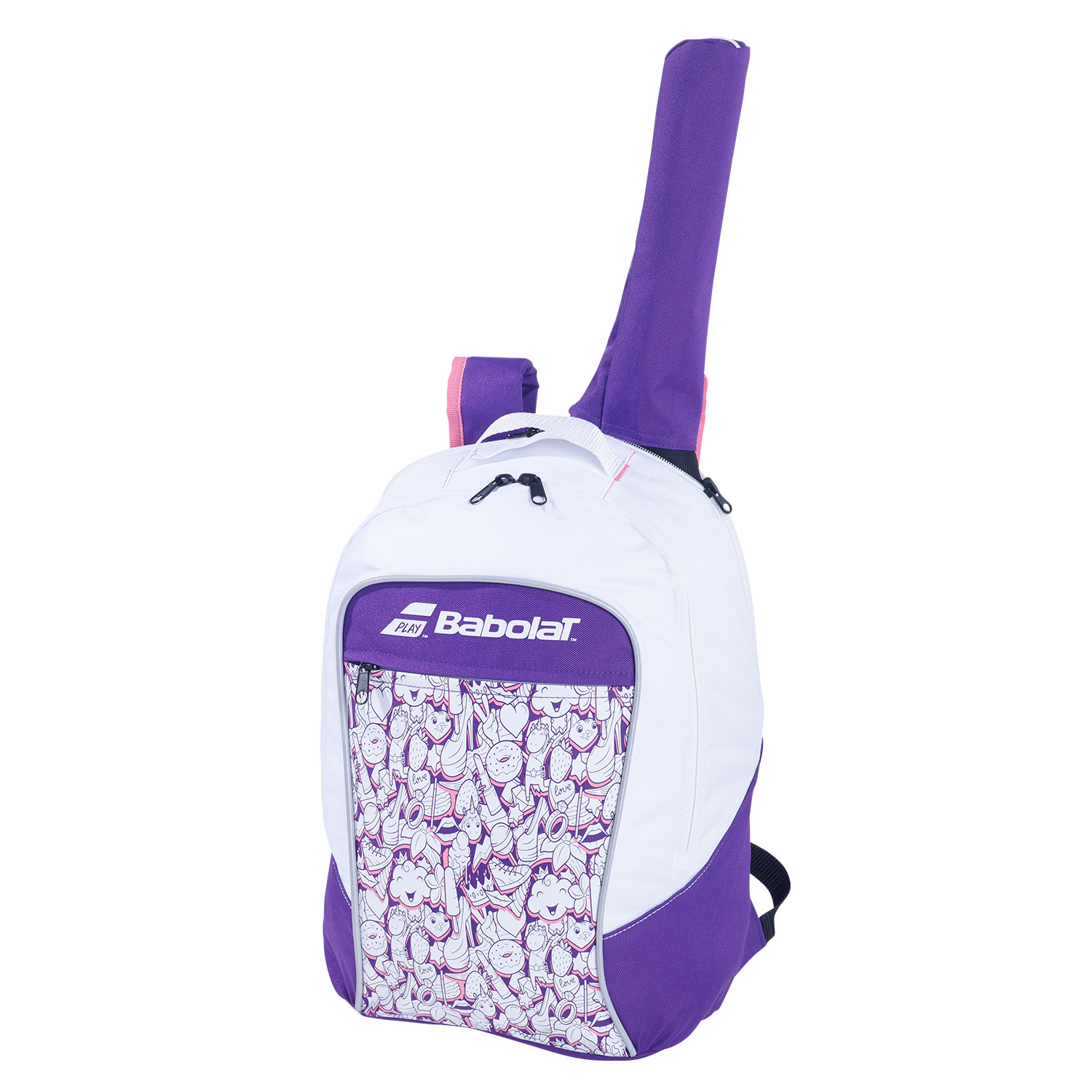 Babolat Club Backpack Girl - White/Purple