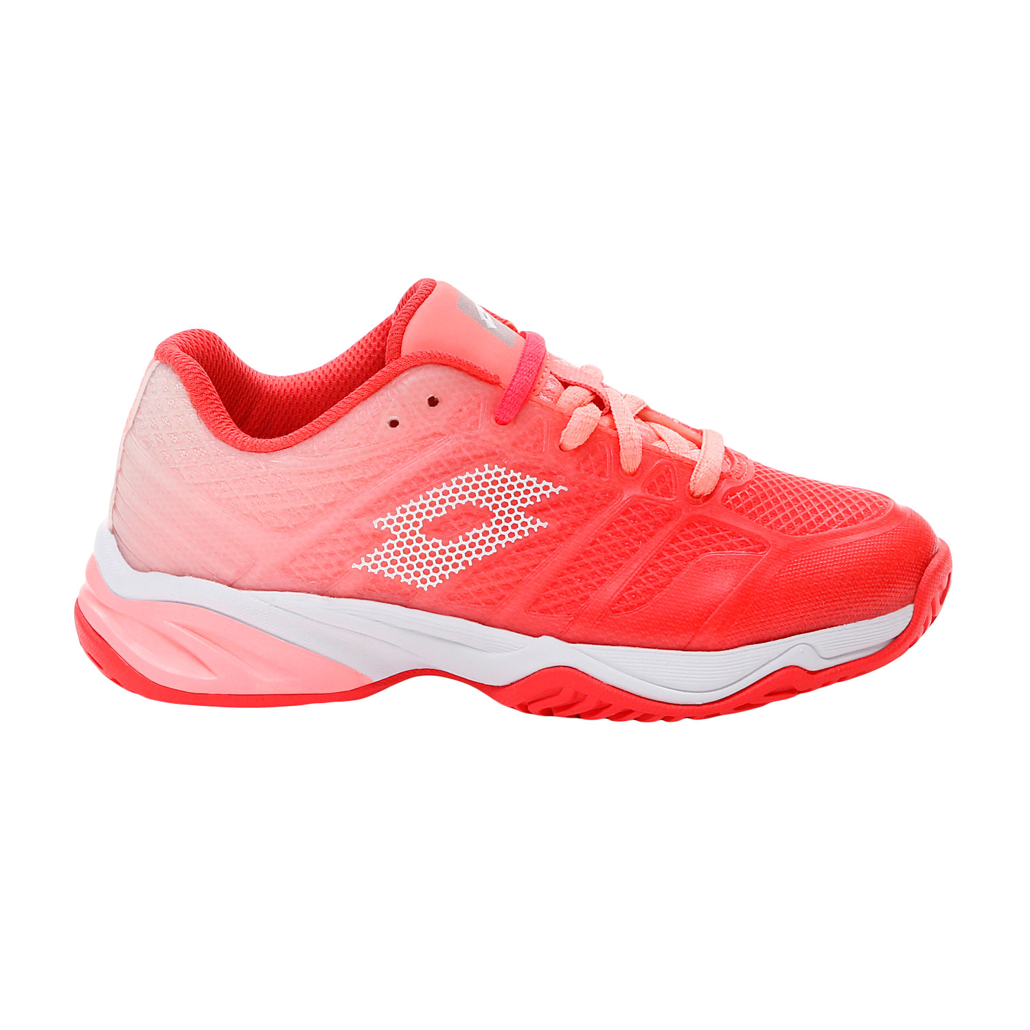 Lotto Mirage 300 II All Round Niña - Red Fluo/All White/Sweet Rose