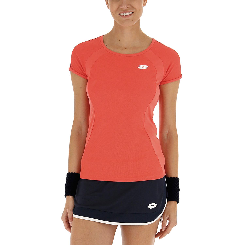 Lotto Teams Camiseta - Red Fluo