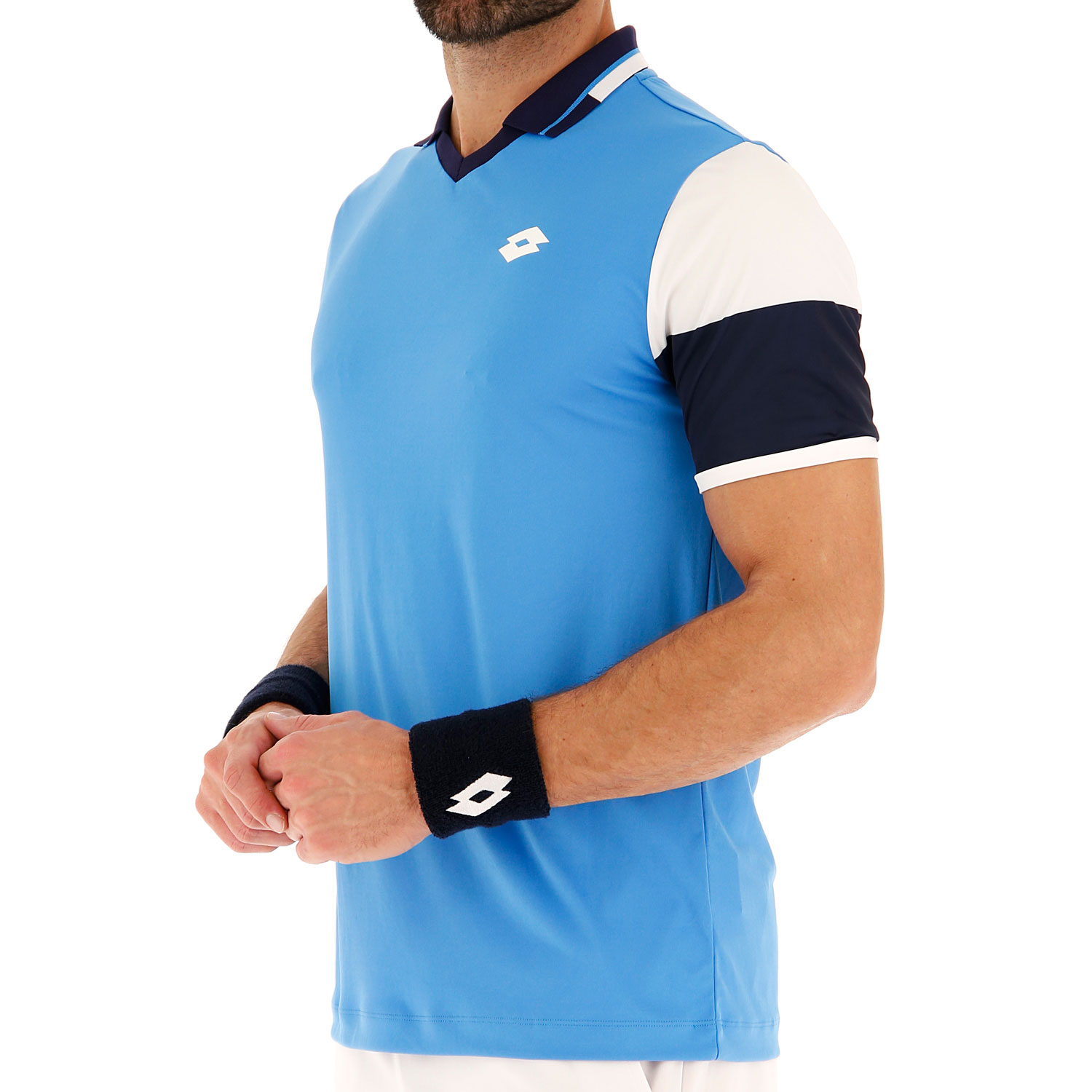 Lotto Top Ten II Block Polo - Diva Blue/Navy Blue