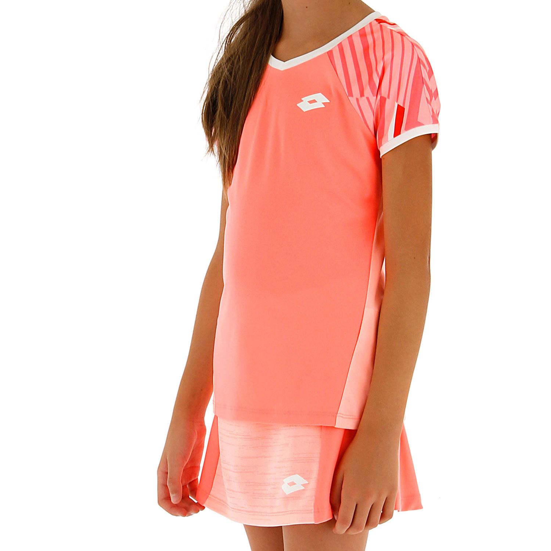 Lotto Top Ten II Print Camiseta Niña - Vivid Rose/Sweet Rose