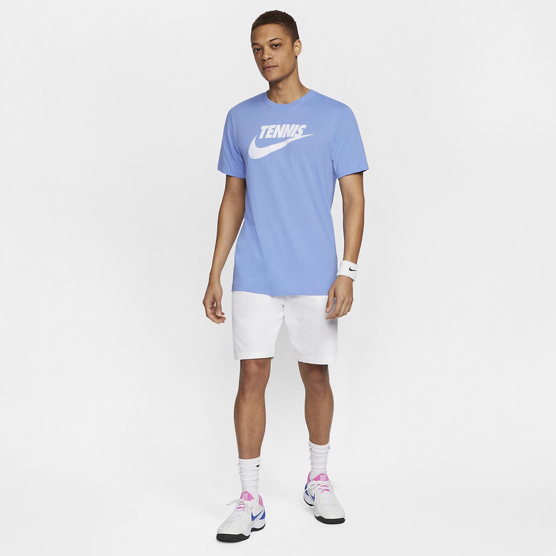 Nike Court Dri-FIT T-Shirt - Royal Pulse/White