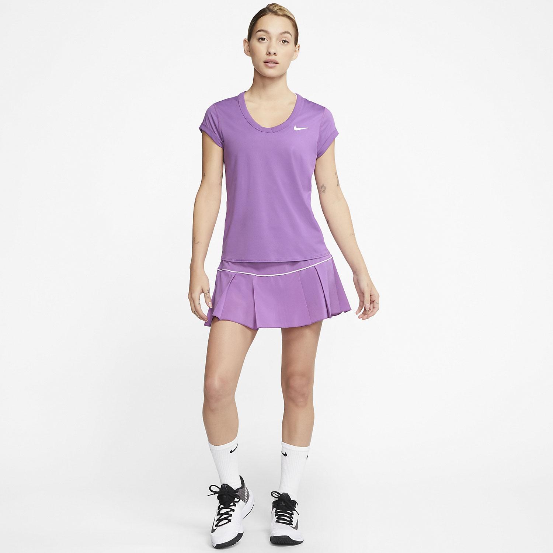 Nike Court Dri-FIT T-Shirt - Purple Nebula/White
