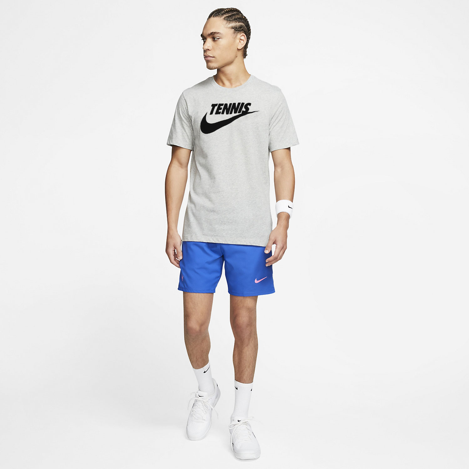 Nike Court Dri-FIT Camiseta - Dark Grey Heather/Black